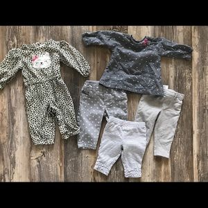 Lot of gently worn Carters baby clothes 3-6 months